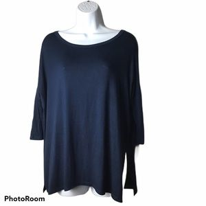 Natural Life Clothing Navy Dolman Style Sleeve Top